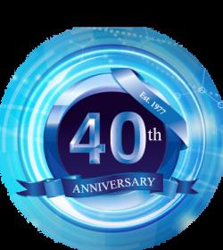 40 years glow circle